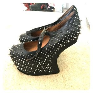 NEW Jeffrey Campbell Nightwalk Spiked Mary Janes